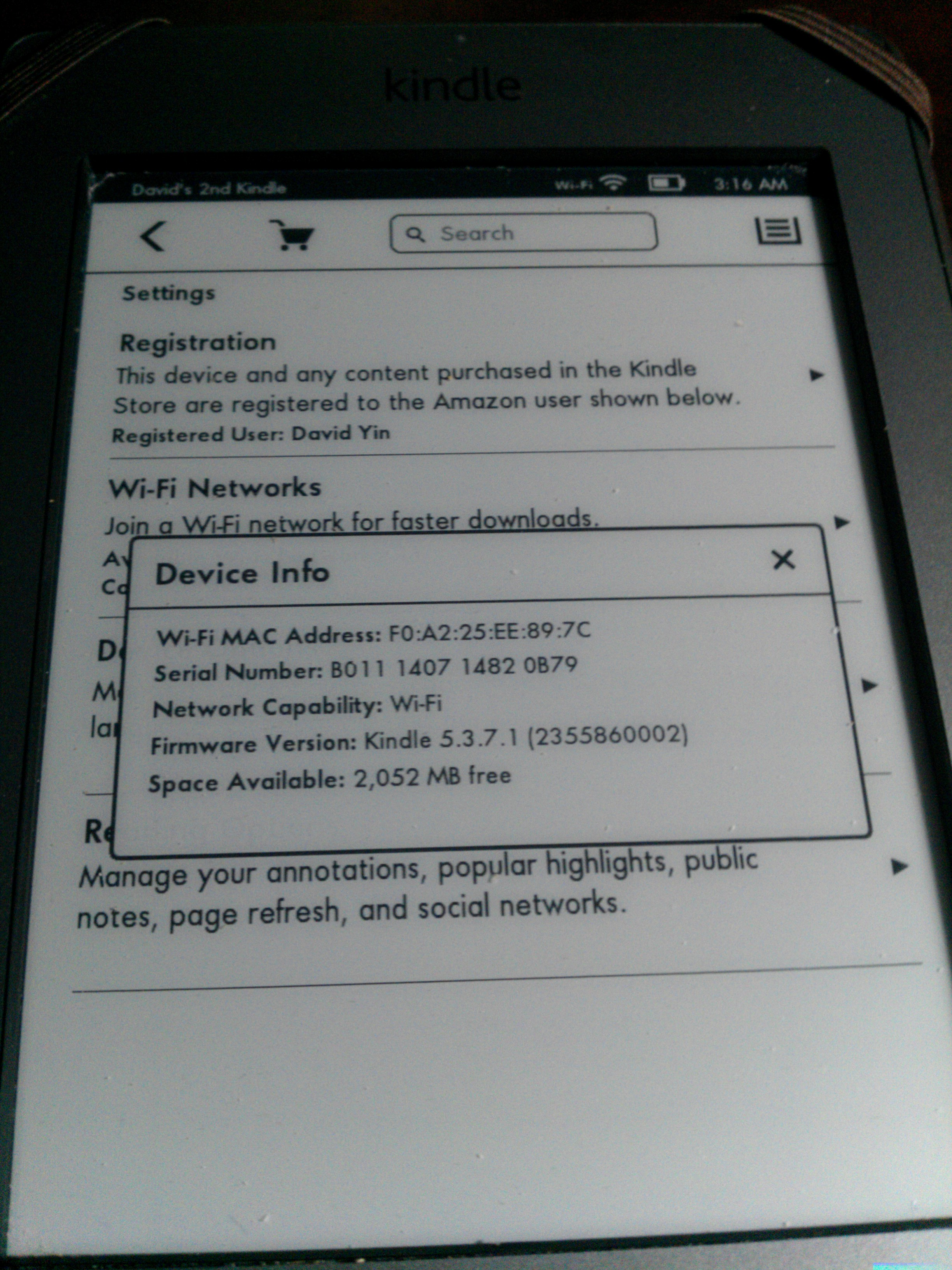 Kindle touch version 5.3.7.1