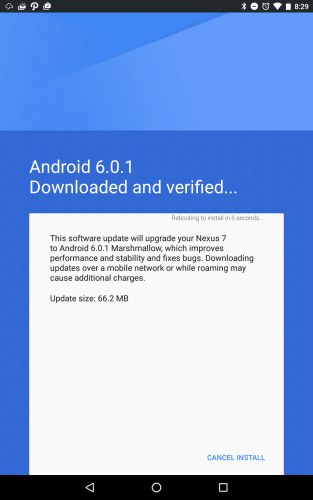 Android 6.0.1 update