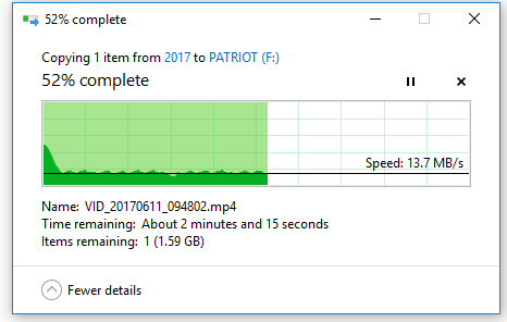 HDD to USB speed test