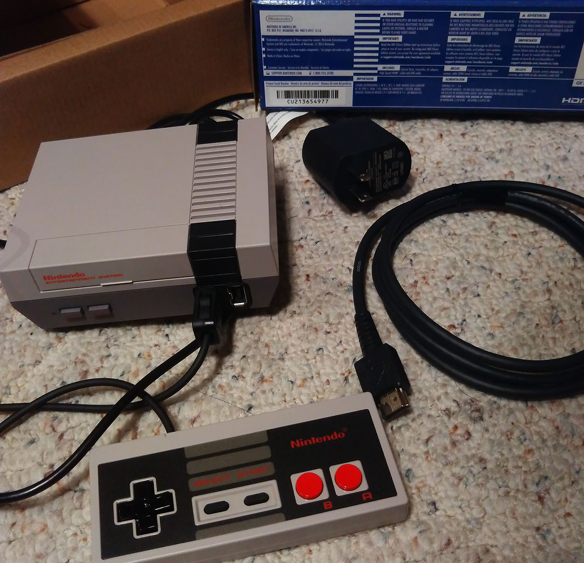 Contents of NES Classic